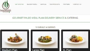 Screenshot of the Caveman Chefs website home page - Caveman Chefs also offers their Whole30 meals delivered to homes nationwide. When ordering from Caveman Chefs, you have the option to choose that you only want to receive Whole30 delivery food. While they may not technically offer Whole30 approved meal delivery, if you let them know you are doing the challenge or eating this way as a lifestyle by selecting the food preference on your meal order, they are a great option for getting your Whole30 prepared meals delivered.