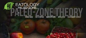 The Eatology Paleo-Zone home page, screenshot as of March 2015