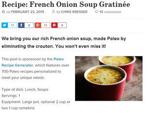 screenshot chriskresser.com french onion soup