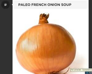 screenshot of thepaleopact.com french onion soup