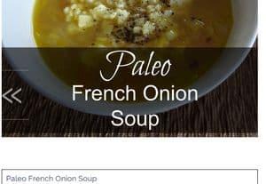 screenshot of www.integrativenutritionaltherapies.com french onion soup