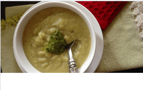 Plantain and Broccoli Soup - AIP, Plantain