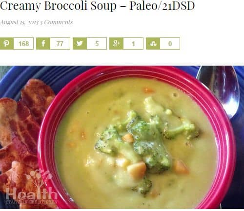 Creamy Broccoli Soup from Health Starts in the Kitchen - Creamy, Vegan Option