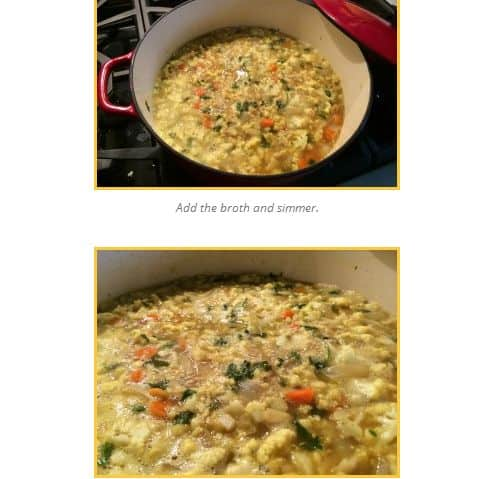 Alice Waters Cauliflower Soup from Paleomazing - Spicy, Curry, Chicken Broth