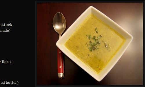Broccoli Leek Soup from The Paleo Foodie - Broccoli, Paleo Vegan Friendly (Omit Ghee)