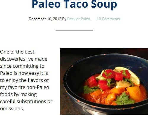Paleo Slow Cooker Taco Soup from Popular Paleo - Slow Cooker, Ground Beef, Easy, No Broth Required