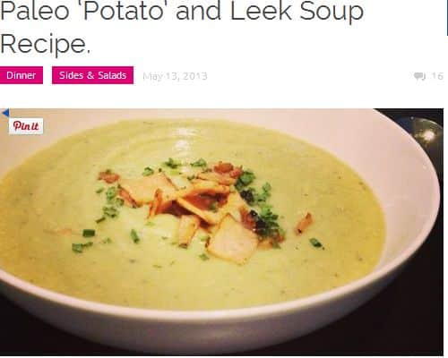 Paleo Potato and Leek Soup from The Merrymaker Sisters - Creamy, Bacon, Almond Milk, No Broth Required