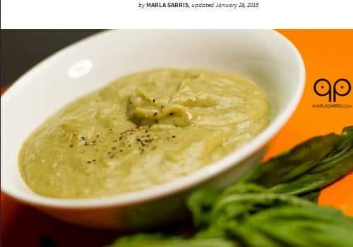 Paleo Sweet Potato Basil and Sneaky Cauliflower Soup from Paleo Porn - Slow Cooker, Paleo Vegan