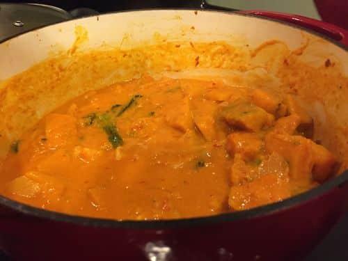 Paleo Thai Curry with Japanese Pumpkin - Add the Thai Basil