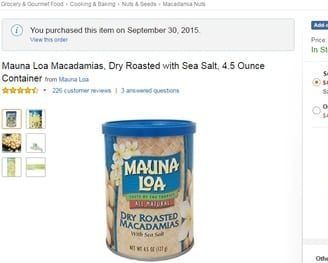 screenshot_-Amazon.com _ Mauna Loa Macadamias, Dry Roasted with Sea Salt, 4.5 Ounce Containe_ 2015_10_10_13_57