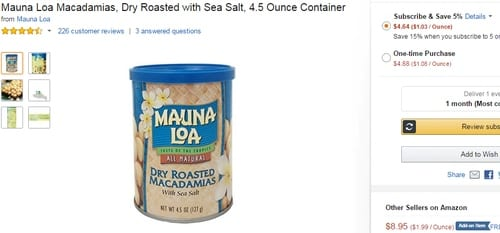 screenshot_-Amazon.com _ Mauna Loa Macadamias, Dry Roasted with Sea Salt, 4.5 Ounce Containe_ 2015_10_10_18_13