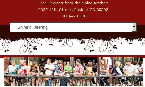 Shine is a gluten free restaurant in Boulder that offers Paleo friendly meals, Paleo game nights and other activities and more. Shine is a great paleo restaurant boulder option. Shine should definitely be on the top of any list of boulder paleo restaurants to consider.