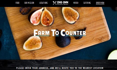 Screenshot of the Dig Inn website - Dig Inn is a popular fast casual restaurant with the paleo crowd. They follow the make your own bowl format, but offering paleo friendly bowls, with greens as a base and made to order grilled meats and fish as a topping. Although not considered a 100 percent NYC paleo restaurant, there are a lot of options on the menu if you are willing to make smart choices and talk to the employees of the restaurant. Popular with the paleo crowd, Dig Inn should definitely be a place to consider for your paleo food nyc list.