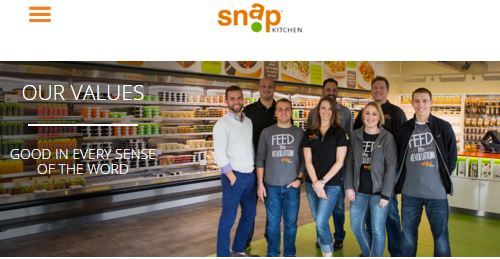 Snap Kitchen provides to-go take away paleo or vegetarian or gluten free and other healthy portion controlled meals