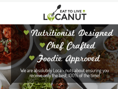 Locanut offers nyc Paleo meal delivery via grubhub and other delivery websites - all meals are Paleo as well as offering vegan/pegan options, sustainable fish, etc