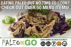 Graphic with Paleo on the Go Certifications, Awards, Details - Paleo on the go is a paleo meal delivery nationwide aip paleo food delivery service. People rave about their homemade paleo frozen meals. They focus on keeping costs down for their products by using select organic vegetables where it makes the most difference as well as certified meat types such as grass fed beef, paleo friendly poultry and pork products