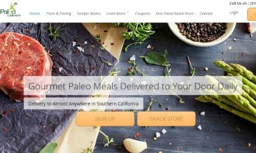 Paleo Delivers offers a number of great Paleo compliant meal plan options. Their Paleo meal delivery Los Angeles services offer fresh, non-frozen meals delivered fresh to your door each day (except Sundays)