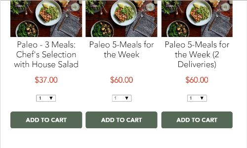 Screenshot of the Cooked Chicago home page, a prepared food delivery Chicago service, that includes paleo meal delivery Chicago plans.