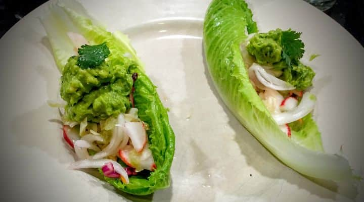Paleo Fish Tacos are a Healthy, Light, Gluten Free and Relatively Quick Meal for a busy weekday evening