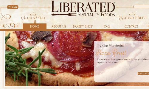 Liberated Specialty Foods, Website home page pictured, is a SCD bakery and sugarfree bakery base in Alabama. They specialize in both SCD baked goods and even offer some scd food for sale, such as their grain free pizza crust and grain free cracker SCD products