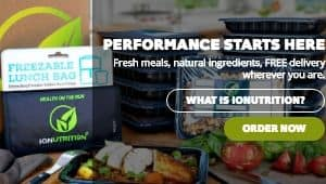 This image is a screenshot of the IONutrition website. IONutrition offers Paleo meal deliveries to people all over the US, from their kitchens in California. This allows you to order Paleo meals online and have them shipped directly to you, either as a caveman era meal plan or individual meals. If you have been looking for Paleo takeout options in your community, you might consider a company like IONutrition as an alternative, as they are likely more strict about cutting out all grains, sugars, legumes and dairy than the local restaurant you might try to piece together a Paleo meal from. IONutriation has a sister company that focuses on healthy meal delivery in general, but they split out IONutrition to make it clear that they are the Paleo meal services arm of the company, focusing specifically on Paleo principles in the meals.