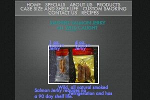 Screenshot of the Fish Brothers website - They sell one of the only smoked salmon jerky products we have found that is also Paleo friendly.