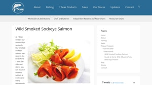Screenshot of the 7 Seas homepage - Whatever your dietary preferences, it's great to know about alaskan smoked salmon brands. We have laid out some of their offerings that might qualify as naturally wild smoked salmon options. 7 Seas specializes in wholesome foods like wild alaskan smoked salmon options.