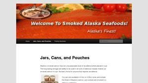 Screenshot of the Smoked Alaska homepage - there are a number of brands of Honey Smoked Salmon Brands, For those seeking where can you buy smoked salmon products, we have you covered. smoked salmon to buy online brands, including those from Smoked Alaska ,
