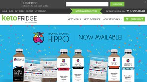screenshot of the Keto Fridge home page, one of the companies you can use to get keto delivered meals. They are one of the few offering a specialized keto delivery service