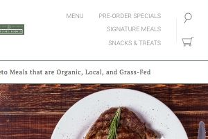 Screenshot of the Ketoned Bodies site - one of the companies covered offering keto diet delivery. They are one of the few companies offering only a keto food service
