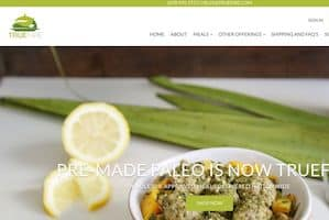Screenshot of the True Fare home page, a former Paleo delivery company that is now offering keto food delivery