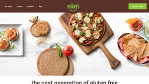 Screenshot of the Mikey's homepage - We cover many paleo sandwich options to give insight into your buying decision. We explore the best gluten free sandwich bread options offered by Mikey's and others. Finding dairy free sandwich bread products used to be a challenge, but its become easier.