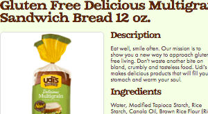 Screenshot of the Udi's Healthy Foods homepage - Looking for Nut Free Bread Brands options should not be so difficult, and now it's not as you can find an increasing number of products in store and on-line. We have laid out some of their offerings that might qualify as nut free bread brands options. There are an increasing number of gluten free dairy free nut free cookies options available.