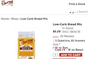 Screenshot of the Bob's Red Mill Natural Foods homepage - With Bob's Red Mill Natural Foods , your organic gluten free bread mix options have increased. finding where to buy gluten free bread mix products is no longer a challenge. some where can i buy gluten free bread mix brands compared.