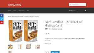 Screenshot of the Julian Bakery homepage - Interested in paleo mix options from great companies like Julian Bakery? We cover them here. There are an increasing number of grain free baking mix options available. Living this lifestyle, it's helpful to know about companies like Julian Bakery which offer i quit sugar superfood paleo bread mix offerings.