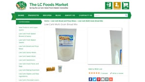 Screenshot of the Lc-foods homepage - We researched Low Carb Bread Mix Brands and this article covers everything we found (like options from Lc-foods. Whether you are SCD, gluten free or Paleo or just watching what you eat, there are now gluten free waffle mix offerings from companies like Lc-foods . Lc-foods offers gluten free yeast free bread mix options,