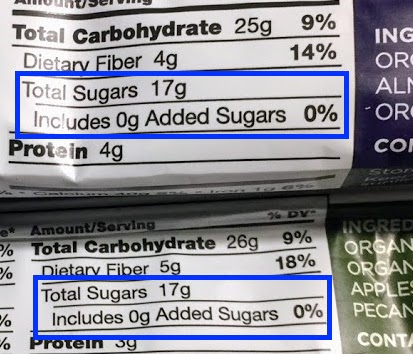 photo of the Freedom Bar nutrition panel (zoomed in) for 2 bars - For those looking for specific carbohydrate diet bars, Freedom Bar was created just about specifically for you. Although larabar specific carbohydrate diet options and gaps diet options tend to be relatively plentiful, Freedom Bars were created by someone specifically with Crohn's disease for people on specialty diets