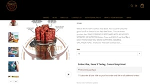 Screenshot of the Mission Meats homepage - finding kind bars paleo products is no longer a challenge. We have outlined a lot of where can you buy paleo bars products in this post. Whatever your dietary preferences, it's great to know about paleo friendly bars brands.